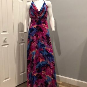 NWOT Pleated skirt gown